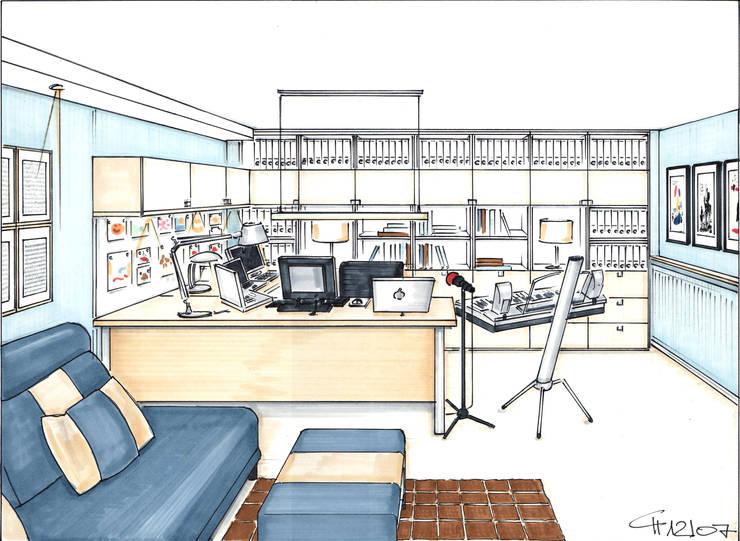 Study/office by Innenarchitektin Claudia Haubrock