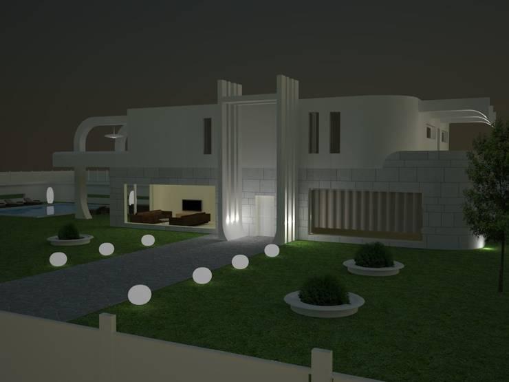 Frontal de chalet.: Casas de estilo  de MUMARQ ARQUITECTURA E INTERIORISMO