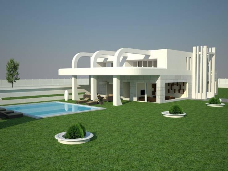 Chalet.: Casas de estilo  de MUMARQ ARQUITECTURA E INTERIORISMO