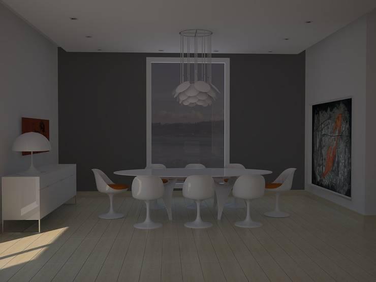 Salón-comedor.: Comedores de estilo  de MUMARQ ARQUITECTURA E INTERIORISMO