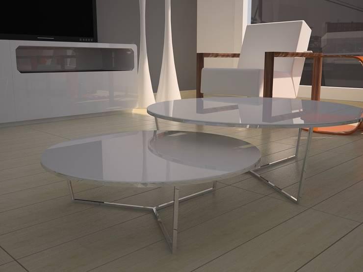 Maravillosas mesas de centro.: Comedores de estilo  de MUMARQ ARQUITECTURA E INTERIORISMO