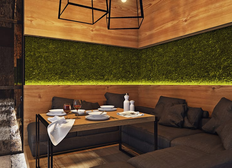 Restaurantes de estilo  por Angelina Alekseeva, Minimalista