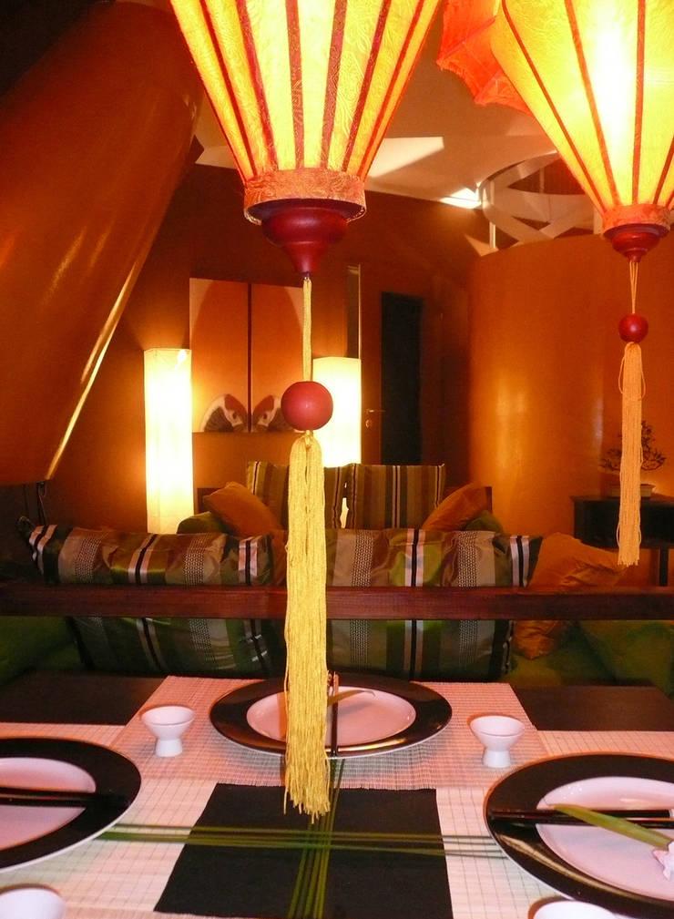 Dining room by Innenarchitektin Claudia Haubrock, Asian