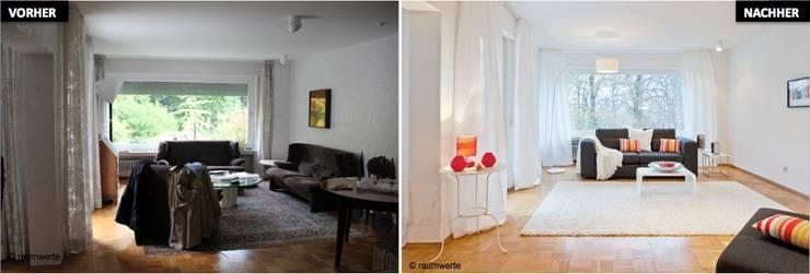 Home Staging Erbimmobilie Siebziger Jahre:  Wohnzimmer von raumwerte Home Staging