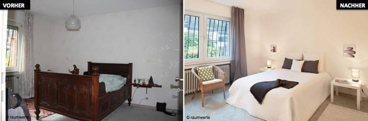 Home Staging Erbimmobilie Siebziger Jahre:  Schlafzimmer von raumwerte Home Staging