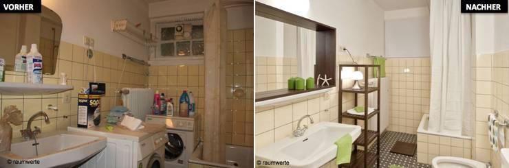 Home Staging Erbimmobilie Siebziger Jahre:  Badezimmer von raumwerte Home Staging