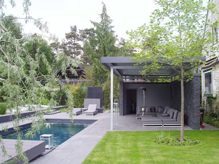 Jardines de estilo moderno por L-A-E LandschaftsArchitektur Ehrig & Partner