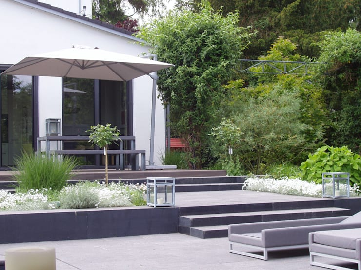 Designergarten: moderner Garten von L-A-E LandschaftsArchitektur Ehrig & Partner