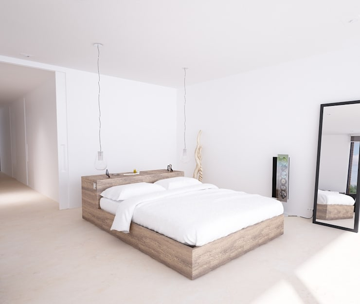 Camera da letto in stile in stile Moderno di DUE Architecture & Design