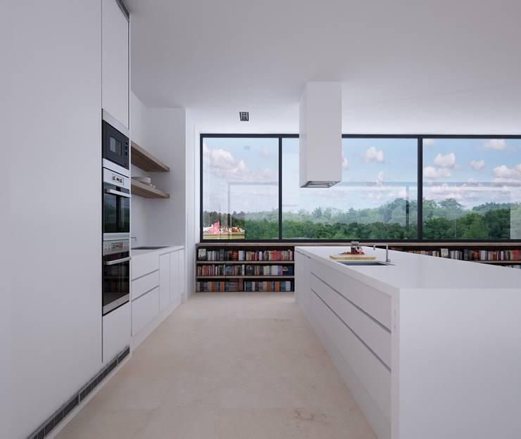 Proyecto de Vivienda Unifamiliar: Cocinas de estilo moderno de DUE Architecture & Design