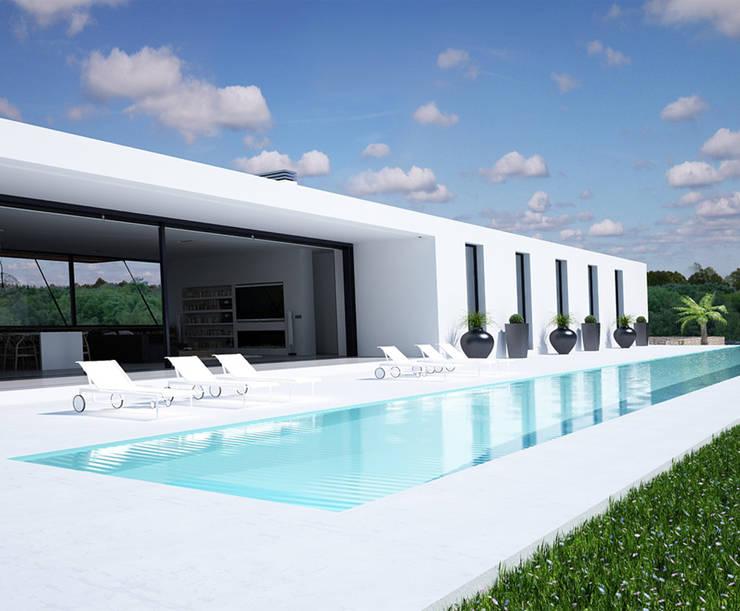 Proyecto de Vivienda Unifamiliar: Casas de estilo moderno de DUE Architecture & Design