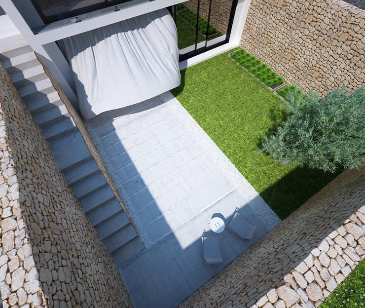 Proyecto de Vivienda Unifamiliar: Terrazas de estilo  de DUE Architecture & Design