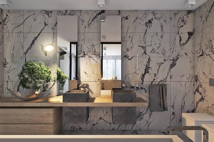 Bathroom by Angelina Alekseeva, Minimalist