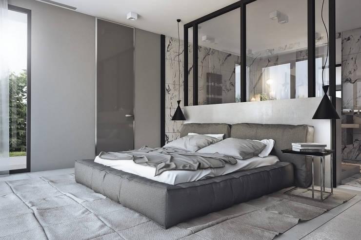 ห้องนอน โดย Angelina Alekseeva, มินิมัล