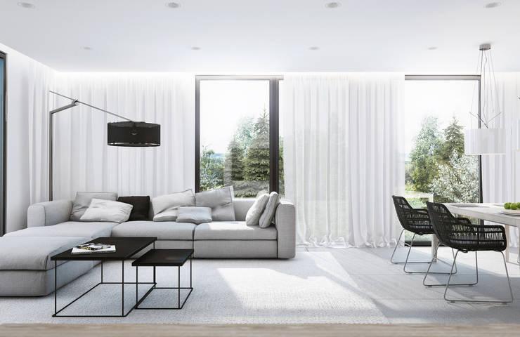 Living room by Angelina Alekseeva, Minimalist