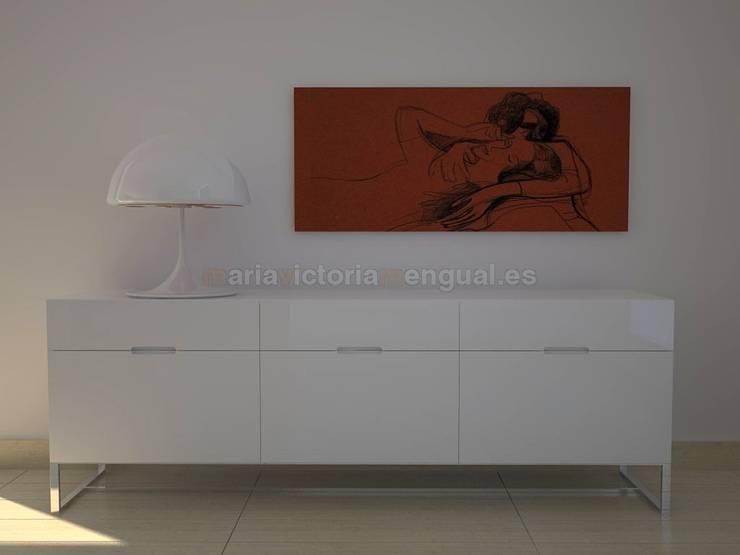 Ambiente con diseño, moderno y con mobiliario de autor.: Comedores de estilo ecléctico de MUMARQ ARQUITECTURA E INTERIORISMO
