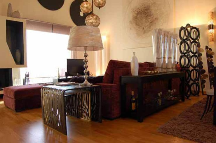 Vivienda en La Lastrilla Segovia: Salones de estilo  de Arquitectura de Interior