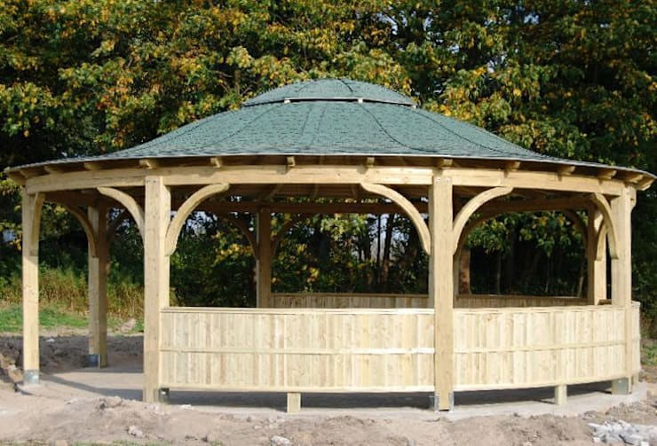 Tuin door EcoCurves - Bespoke Glulam Timber Arches