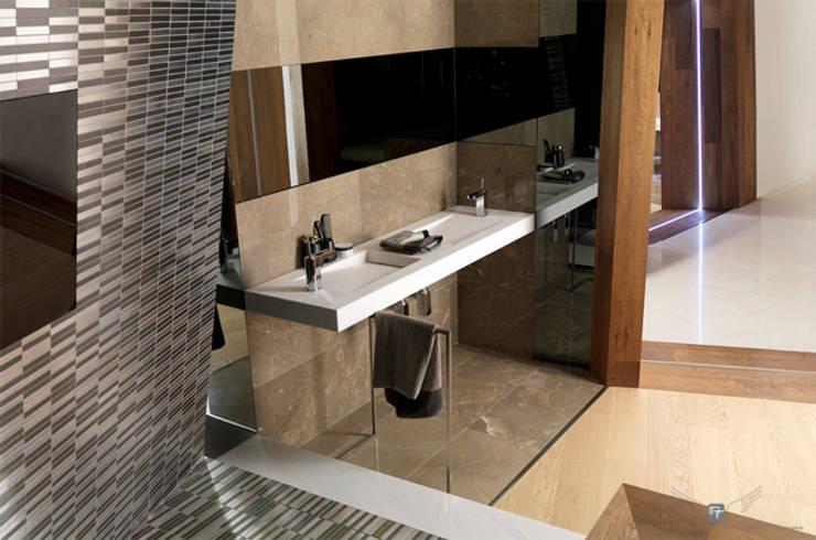 SUITE MATERIAL NOBLE: Baños de estilo  de MANUEL TORRES DESIGN