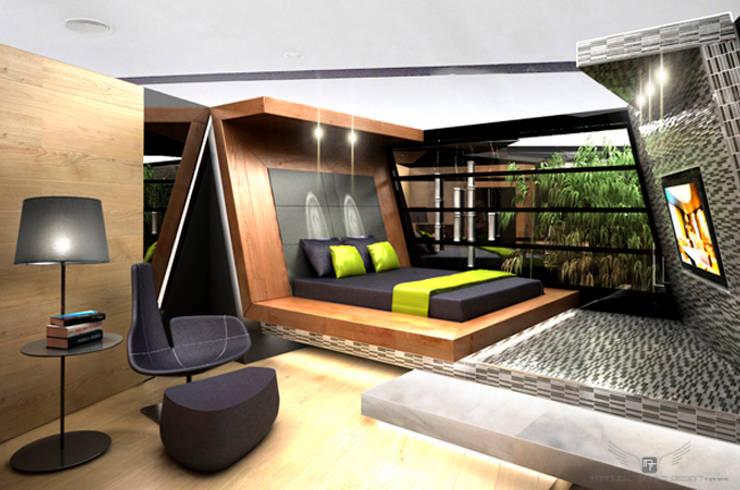 Salas multimedia de estilo  por MANUEL TORRES DESIGN