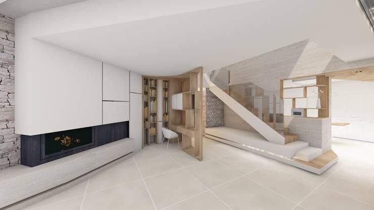 Villa Gaïa: Salon de style de style Moderne par MAAD Architectes