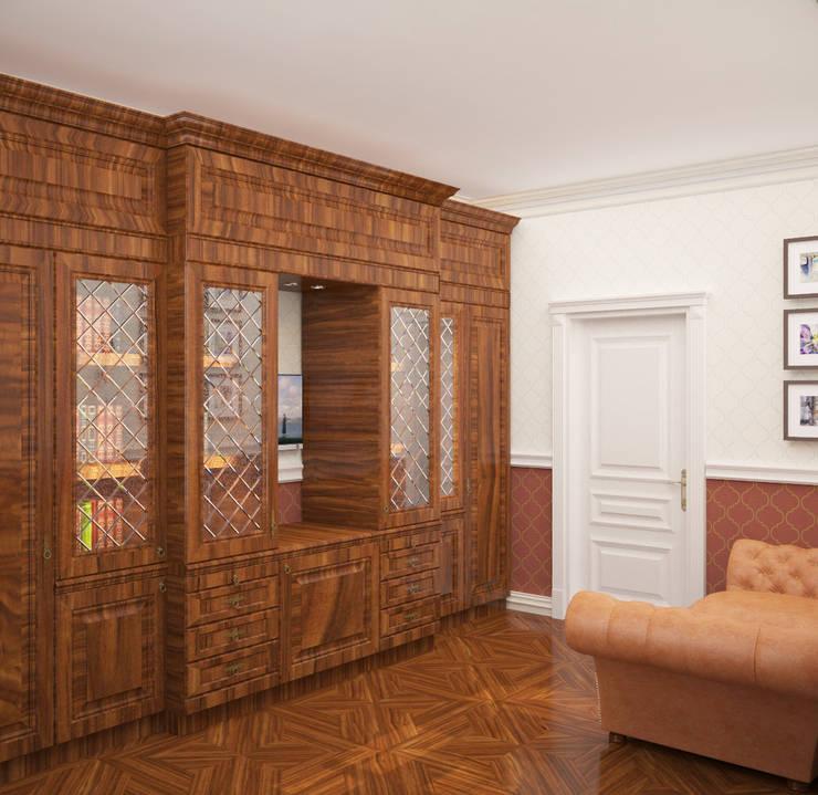 Кабинет в классическом стиле в загородном доме в подмосковье: Рабочие кабинеты в . Автор – Гурьянова Наталья