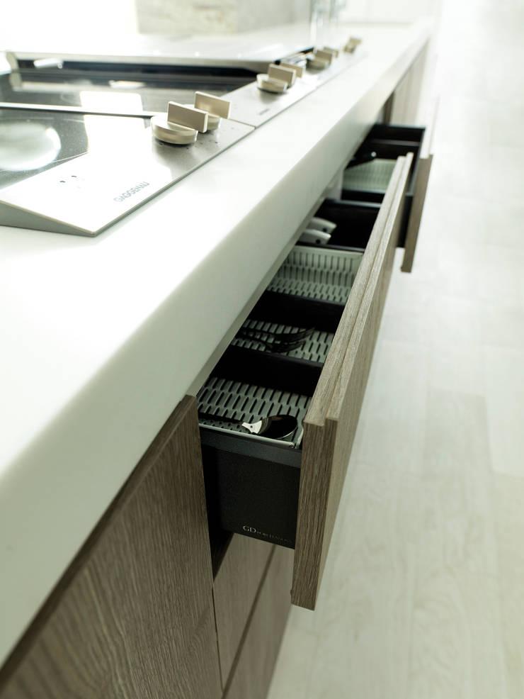 E2.30 terroso texturado / blanco texturado: Cocina de estilo  de GAMA-DECOR S.A.