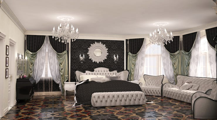 Спальня в загородном доме в подмосковье: Спальни в . Автор – Гурьянова Наталья
