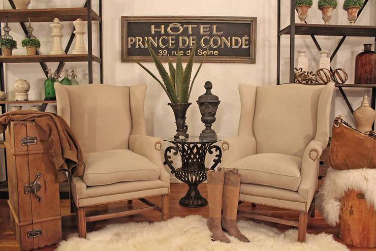 Lobby hotel Vintage: Hoteles de estilo  por Estación Ortiz ,Rústico