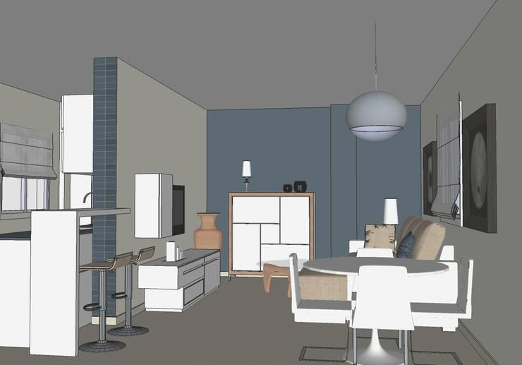 Posibilidades y realidad de una reforma en una pequeño apartamento en Torrevieja.: Comedores de estilo  de MUMARQ ARQUITECTURA E INTERIORISMO
