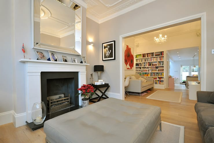 Fulham 1:  Living room by MDSX Contractors Ltd