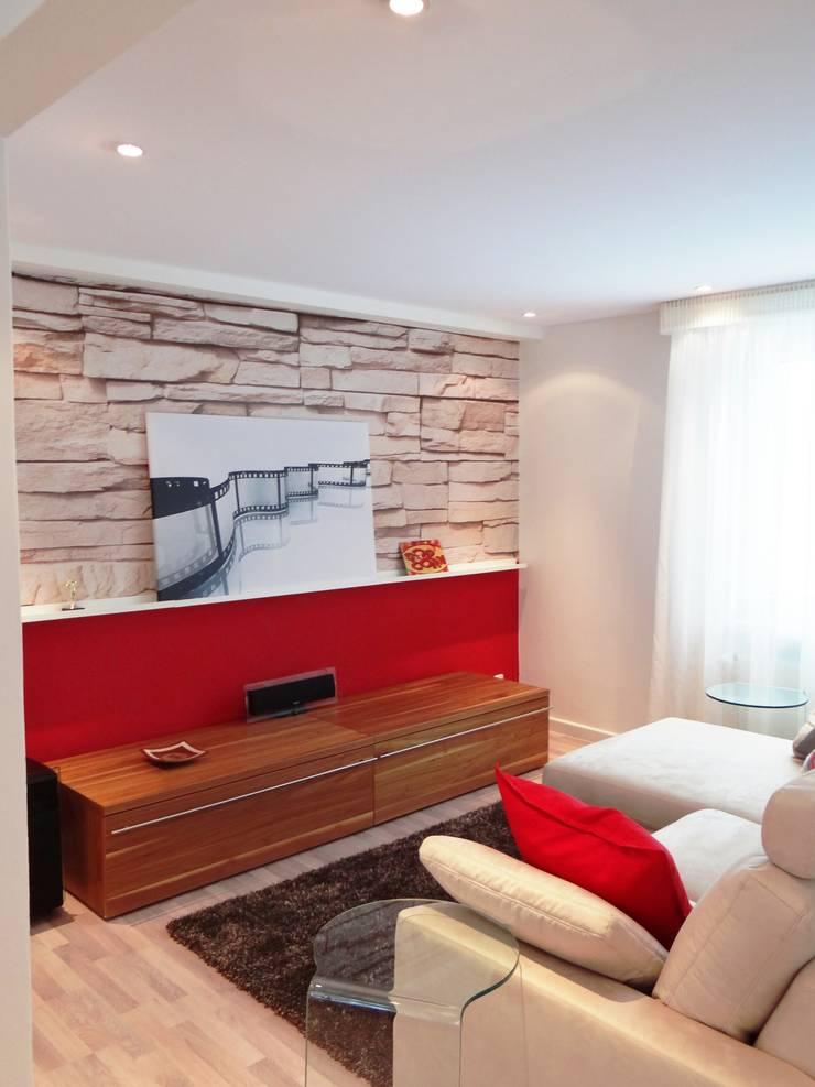 Livings de estilo  por Interiordesign - Susane Schreiber-Beckmann gestaltet Räume.
