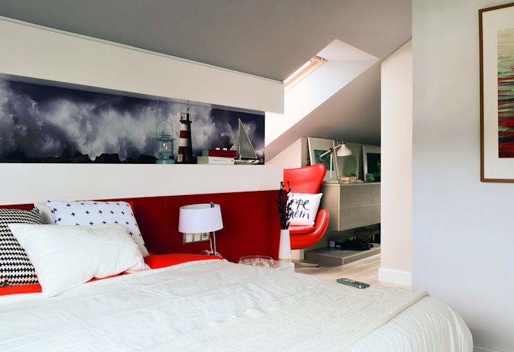 Pensado para descansar.: Dormitorios de estilo escandinavo de TEKNIA ESTUDIO