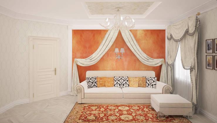 Комната для гостей в загородном доме в подмосковье: Спальни в . Автор – Гурьянова Наталья,
