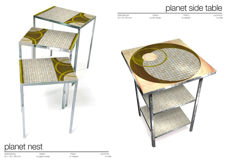 NEST AND SIDE TABLES: Comedor de estilo  de Martin Brown Mosaics