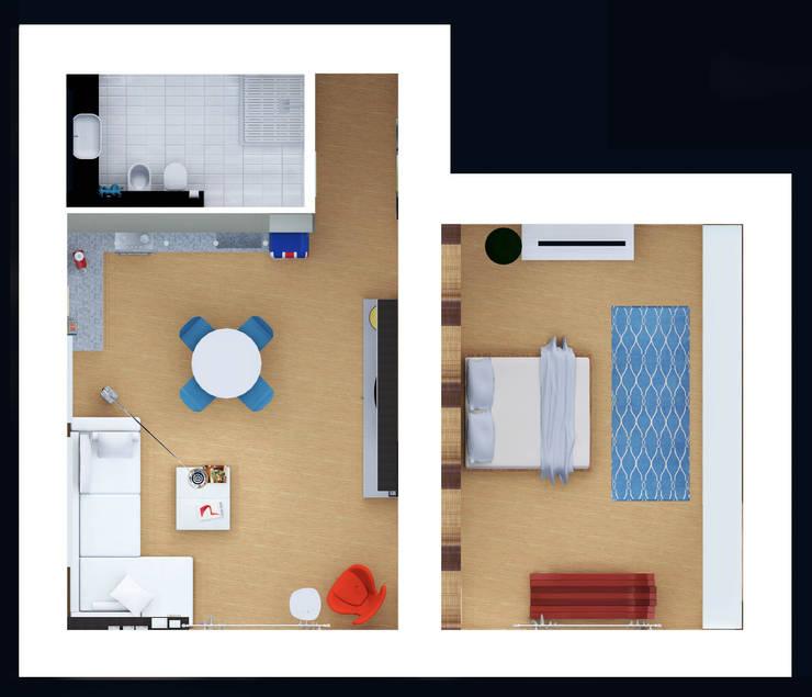 Pianta:  in stile  di Marco D'Andrea Architettura Interior Design