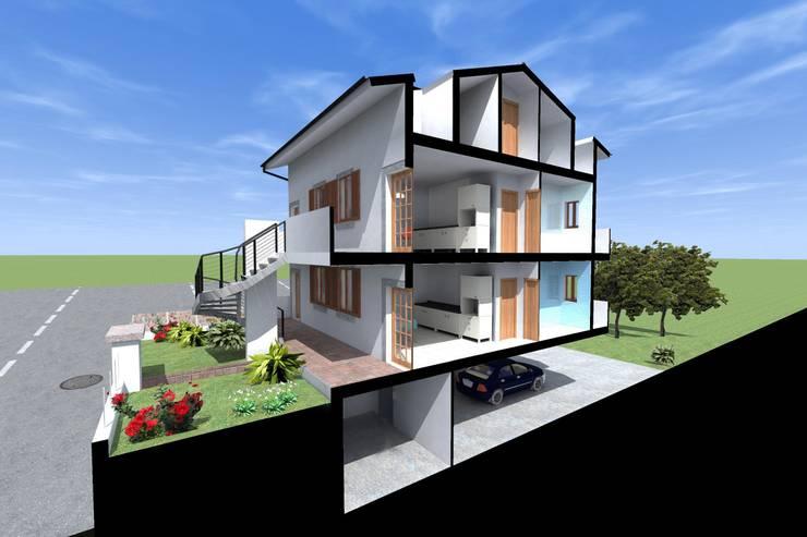 Appartamenti estivi – Sardegna:  in stile  di Marco D'Andrea Architettura Interior Design