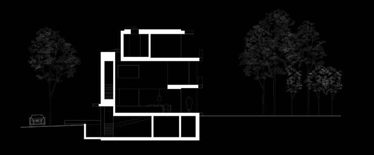 querschnitt: modern  von architekturbüro axel baudendistel ,Modern