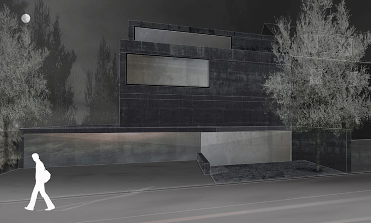 fassade zur strasse: modern  von architekturbüro axel baudendistel ,Modern