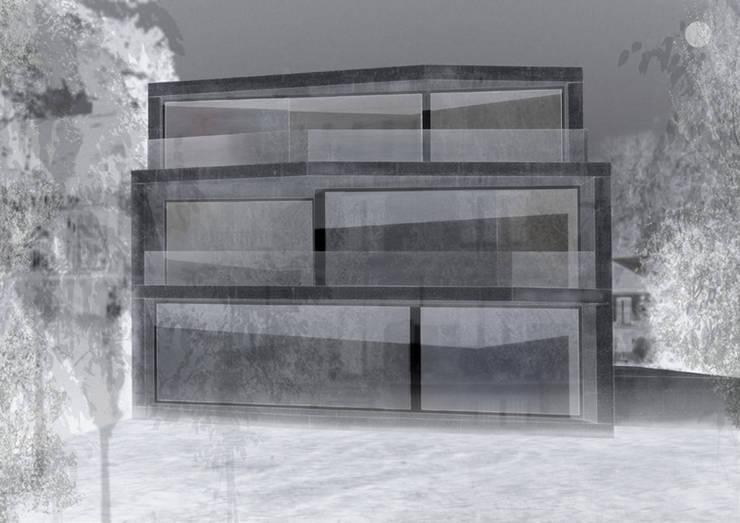 fassade zum wald: modern  von architekturbüro axel baudendistel ,Modern