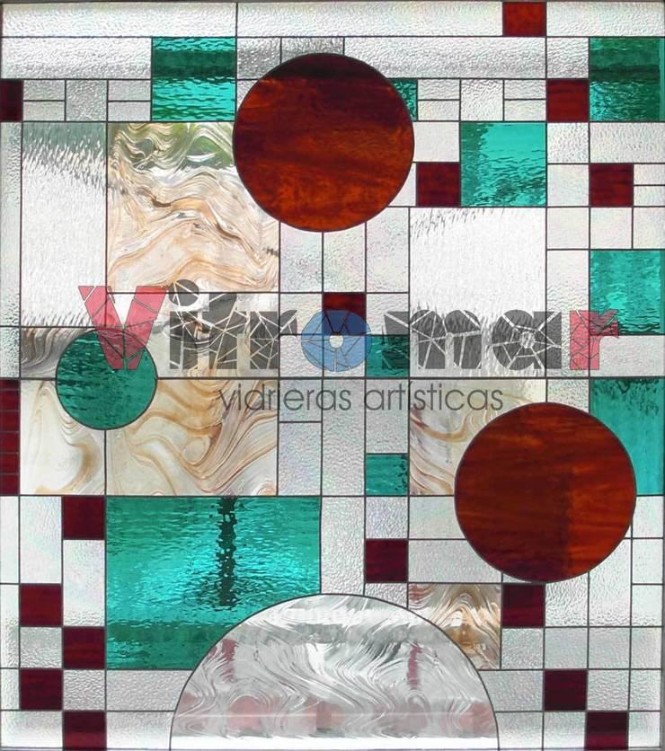 Abstracto Wright:  de estilo  de Vitromar Vidrieras Artísticas
