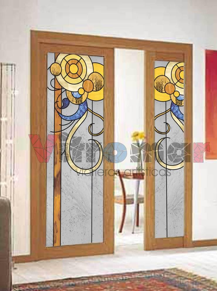 Puerta círculos vectoriales :  de estilo  de Vitromar Vidrieras Artísticas