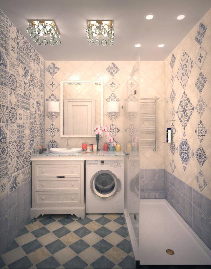 Кухня-гостиная в классическом стиле: Ванные комнаты в . Автор – Гурьянова Наталья