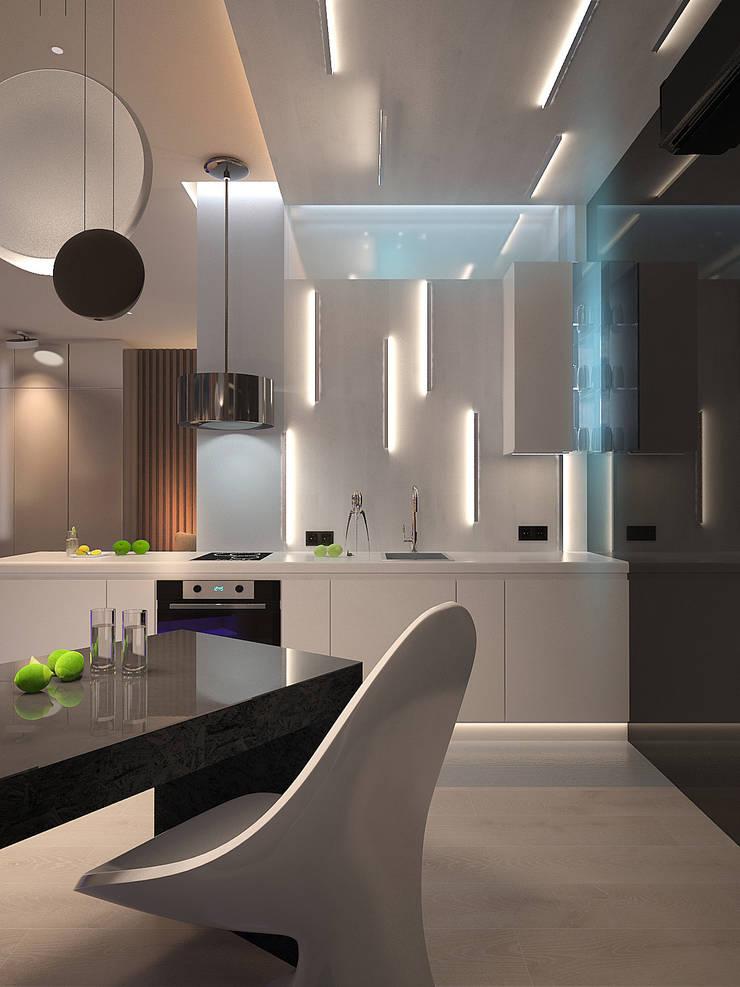Апартаменты на Белинского: Кухни в . Автор – Dmitriy Khanin