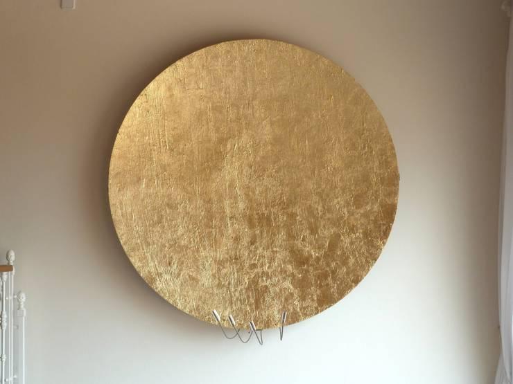 Blattvergoldete Lampe 1,70 m:   von Illusionen mit Farbe ,Ausgefallen
