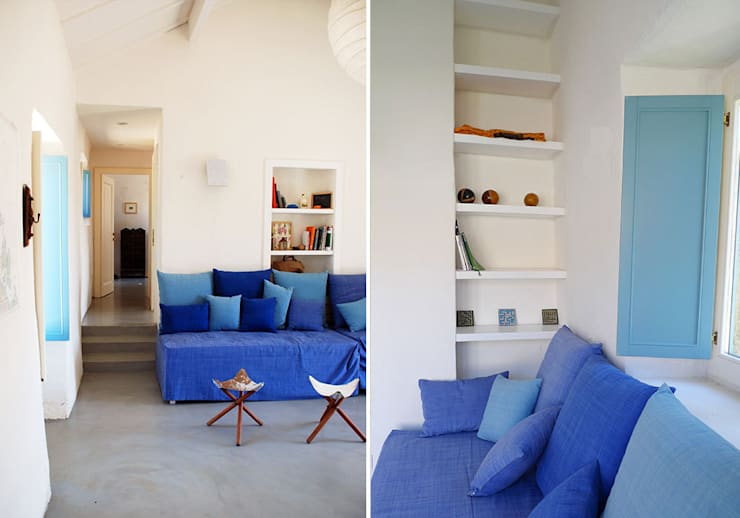 STAZZU RURAL HOUSES  Living room: Soggiorno in stile  di FTA Filippo Taidelli Architetto