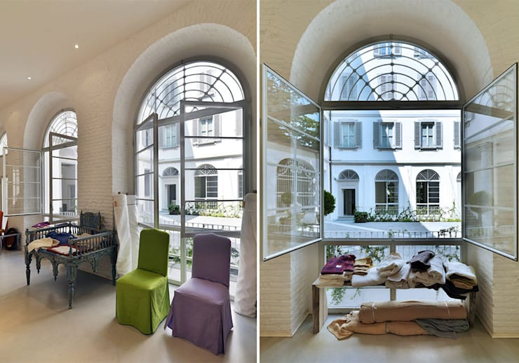 C&C SHOWROOM : Negozi & Locali commerciali in stile  di FTA Filippo Taidelli Architetto