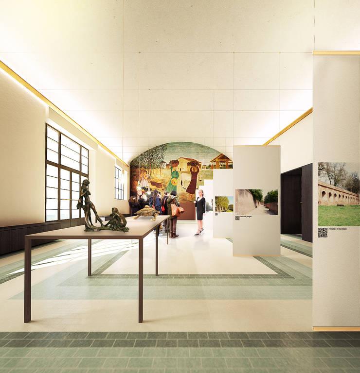 Salas multimedia de estilo moderno por QBatelier + FèRiMa