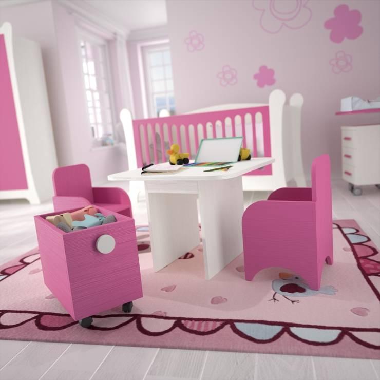 DORMITORIOS: Habitaciones infantiles de estilo  de Muebles Flores Torreblanca