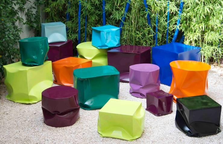 Cubos: Jardín de estilo  de Ines Benavides